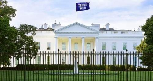 TrumpWonFlagOverTheWhiteHouse